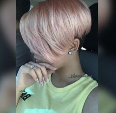 rose gold pixie.. Hairstyle New Do More