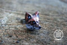 Woodland Fantasy Whimsical Fox Head Ring www.seaofbeesjewelry.com #etsy #jewelry #handmade #lux #luxfrontiercollection #woodland #woodlandfantasycollection  #fox #deer #bear #bird #moose #antler #ring #brooch #necklace #geometric #triangle #handmadejewelry