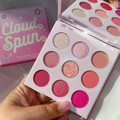Cloud Spun palette - This baby pink palette is sweeter than candy! Featuring a perfect mix of Super Shock, Pressed Glitter, matte and metallic finishes and a range of pinks to create the sweetest looks! 🍭The full collection: 💓Cloud Spun palette 💓3 Lippie Stix 💓Take the Cake blush 💓Truffle Shuffle blush 💓3 So Juicy Glosses 💓Candy Floss Marbled Super Shock Highlighter 💓Fluffie Creme Gel Liner 💓Boots Creme Gel Liner Unique Makeup, Pretty Makeup, Love Makeup, Makeup Inspo, Beauty Makeup, Makeup Looks, Pastel Makeup, Makeup Artist Kit, Glitter Eyeshadow Palette