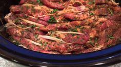 Schichtfleisch Döner-/Kebab-Art im Slow Cooker