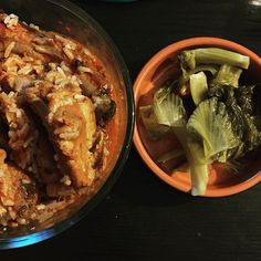 Finished a jar of pickled mustard greens in a day.  need to make triple the amount next time. #foodie #eeeeeats #cnemocook #dinner #koreanfood #kimchispareribs http://hauteaudio.com
