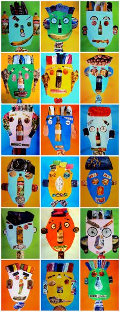 COLLAGE - graders years old) The artist Hanoch Piven is an icon . Kindergarten Art, Preschool Art, Arte Elemental, Art For Kids, Crafts For Kids, Ecole Art, Art Lessons Elementary, Art Abstrait, Recycled Art