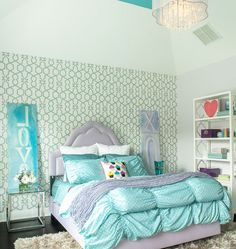 DIY Home Decor Ideas - Sophisticated, Glam, Girls Room - Click Pic for 47 Decor Ideas for Girls Rooms