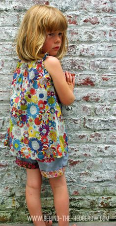 Liberty dress turned into top with mismatching shorts-