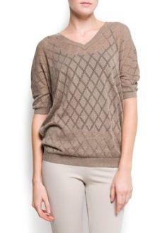 Mango Women's Diamond Openwork Sweater, Mystery, M Mystery M MANGO. $49.99