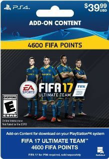 Fifa 17 Ultimate Team 4600 Points  Playstation 4 [digital Download Add-on]
