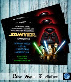 Lego Star Wars Birthday Party Invitation  by BlueMoonInvitations, $5.50