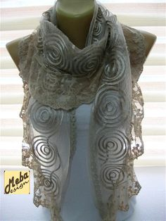 Lace Scarf-gift Ideas For Her Women's by MebaDesign on Etsy