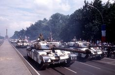 British Army Chieftain Tanks on Parade in then West Berlin.