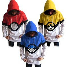 Pokemon Go Poke Ball Trainer Hoody Jacket Coat Sweater Costume Cosplay  Uniform c855dcc0d5063