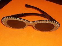 Coolest Vintage Lucite Sunglasses I have Ever Seen Black White Mid Century Mod Modern