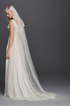 All Over Beaded Cathedral Length Veil