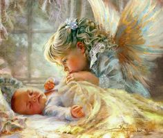 Diamond Painting Baby Guardian Angel Kit Offered by Bonanza Marketplace. Number Drawing, I Believe In Angels, Mosaic Pictures, Angel Pictures, Angels Among Us, 5d Diamond Painting, Guardian Angels, Cross Paintings, Drawing Skills