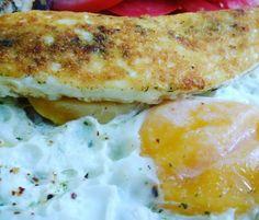 Ovos com casquinha de queijo