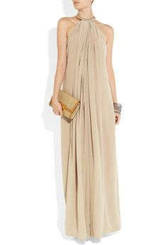 KAUFMANFRANCO  Sandwashed-silk halterneck jumpsuit. Need to get this. Elegant and sexy.