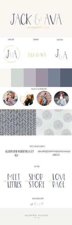 Jack & Ava Brand Design by Harper Maven Design | www.harpermavendesign.com