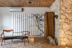 Decoração, decoração de casa, decoração rústica, decoração moderna, revestimento, Luz natural, Sala de estar, Casacor, obra de arte, escultura.