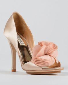 Randall Ruffled Bridal Sandals $200.00