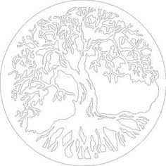 Dxf File Tree Of Life #2 Cnc Dxf Plasma Laser Scroll Saw Vector Wall Art Cnc