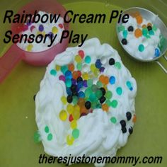shaving cream sensory play with water beads {from Just One Mommy} Sensory Tubs, Sensory Boxes, Sensory Activities, Sensory Play, Toddler Activities, Sensory Garden, Enrichment Activities, Attention Autism, Messy Play