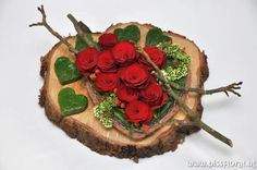 nl… Special # Farewell flowers… www. Art Floral, Deco Floral, Floral Design, Valentine Flower Arrangements, Valentines Flowers, Floral Arrangements, Sympathy Flowers, Funeral Flowers, Wood Ornaments