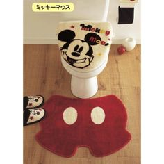 Bath room accessories kids mickey mouse 34 ideas for 2019 Childrens room Mickey Mouse Bett, Disney Mickey Mouse, Mickey Mouse Bathroom, Mickey House, Disney Rooms, Disney Home Decor, Bathroom Accessories Sets, Disney Merchandise, Crochet Hearts