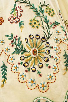 hem beading detail on an Austrian dress, 1804-15 Met museum #mizustyle