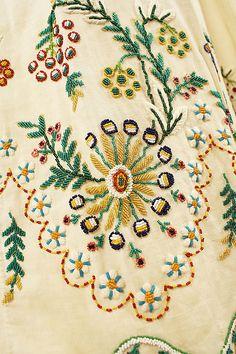 Fabulous hem beading detail on an Austrian dress, 1804-15 Met museum