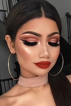 Gorgeous Makeup: Tips and Tricks With Eye Makeup and Eyeshadow – Makeup Design Ideas Glam Makeup Look, Cute Makeup, Perfect Makeup, Gorgeous Makeup, Amazing Makeup, Glamour Makeup, Gorgeous Gorgeous, Easy Makeup, Simple Makeup