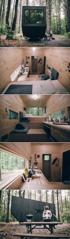 A tiny house located in the woods of upstate New York. Available for nightly rental through getaway.house. : tinyliving #ideas