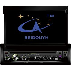 BEIDOUYH 1DIN In-Dash Car Stereo DVD Player GPS Navigation for Cars with Touch Screen/Radio/Bluetooth/USB/Steering Wheel Control
