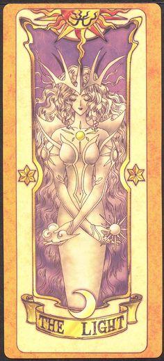 """The Light (Luz) - Esta carta """"morou"""" dentro de Sakura desde que ela libertou as Cartas Clow. Como Sakura ficou determinada a não desistir e com a idéia fixa de que tudo daria certo quando ficou no escuro por causa da carta Trevas, a carta pode se libertar de dentro da Sakura. Com isso, Trevas também voltou à sua forma original (na verdade ela era """"do bem"""")"""