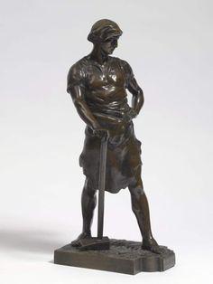 """""""Pax et Labor""""Entwurf Émile Louis Picault (1883 Paris - 1915) Metallgießer, mit vorgestelltem link — Skulpturen, Plastiken, Installationen, Bronzen, Relief"""