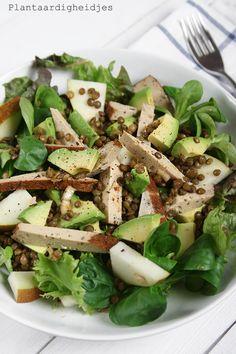 Plantaardigheidjes: Linzensalade met gerookte kruiden tofu