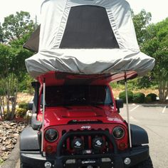 Awesome Jeep tricked out as an expedition vehicle....complete with trailer.