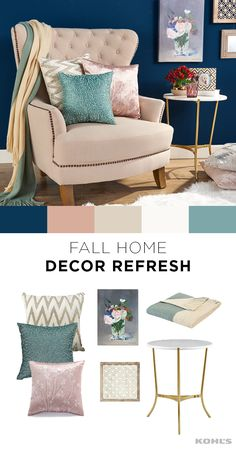 A new season is a great opportunity to freshen up your home decor. A few simple additions, like throw pillows in rich fabrics or a new piece of wall decor, can work wonders in your favorite little corner of the living room. Give your home a fresh new look with brands like LC Lauren Conrad and  Kohl's.