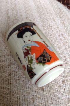 Set of 6 Superb Teacups Sake Cups with Japanese Geisha Girl Design | eBay $33.00