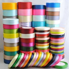 Chenkou Craft 50Yard 2roll 50 Color Satin Ribbon 3/8' 10mm DIY Craft Wedding Supply Ornament *** Click image to review more details.