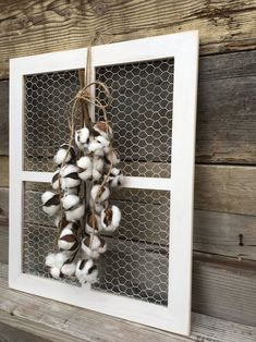 Window Frame with Lambs Ear Wreath Chicken Wire Frame Country Wall Decor, Rustic Wall Decor, Rustic Walls, Country Chic, Chicken Wire Crafts, Chicken Wire Frame, Chicken Art, Old Window Frames, Barn Wood Frames