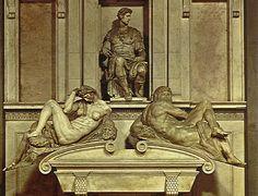 Night Michelangelo Buonarroti Italian 1475-1564 1526-1531 Italian Renaissance Marble New Sacristy in San Lorenzo; Florence, Italy
