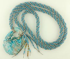 Project Example from 'Kumihimo' -  a class by Judy Storey at the Alaska Bead Company