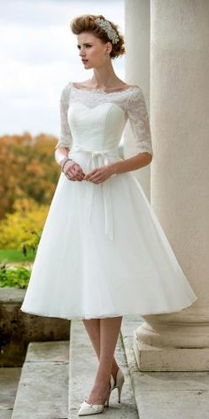 Sincerity wedding dress style 3875 | This 1950\'s inspired tulle tea ...