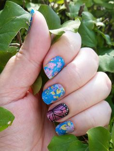 September Hostess Exclusive and Butterfly Kisses #jamberry #nails #nailart…