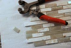 Coastal Inspired DIY Tile Backsplash Tutorial (anyone can do! Diy Tile Backsplash, Vinyl Wood Planks, Home Repair, It's Easy, Home Improvement, Coastal, Artsy, Canning, Inspired