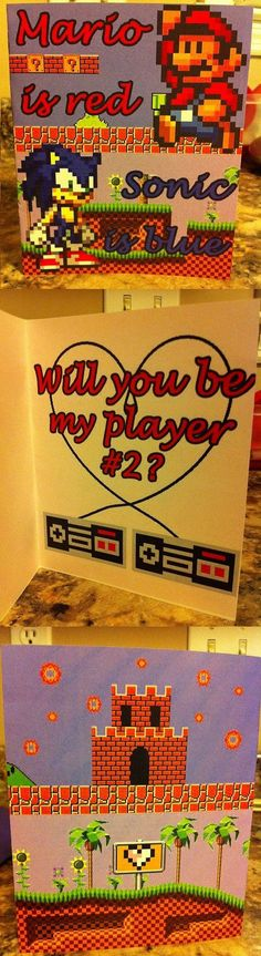 Gamer Valentine's Day Card.