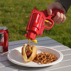 Condiment Gun | 18 Amazing Geeky Kitchen Gadgets And Gear Ideas To Impress Your Friends