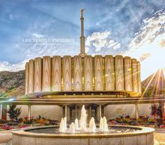 The Provo Temple was the in the world and the in Utah. It was dedicated February 1972 by Joseph Fielding Smith. Utah Temples, Lds Temples, Lds Temple Pictures, Church Pictures, Religious Pictures, Home Temple, Lds Art, Mormon Temples, Lds Mormon