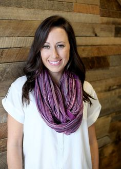 Women's Festival Bliss Shimmer Infinity Loop Scarf (PURPLE), Fashion Scarves, Shoulder Wraps, Stocking Stuffer, Women's Gifts, For Her