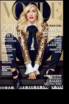 Gwen Stefani en la portada de Vogue USA vestida de Saint Laurent Paris: gwen stefani | Galería de fotos 14 de 21 | Vogue