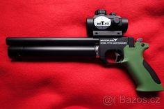 PCP pistole - Prodám pistoli PCP SPA PP 700W ráže 4.5mm opatřenou kolimátorem RED DOT červený a zelený bod. Zakoupeno 6.5.2016 za 6500Kč.Vystříleno asi 300 diabol JSB. Důvod prodeje-koupě ostré zbraně.Naladěna na 15.5 Joule.Střelba až na 50m.https://s3.eu-central-1.amazonaws.com/data.huntingbazar.com/6840-pcp-pistole-pistole.jpg